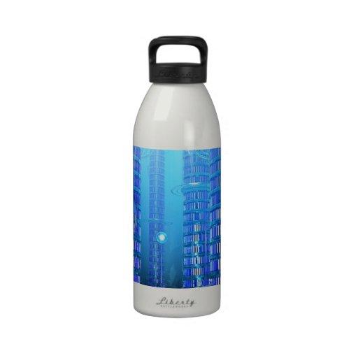 Biblioteca de la fantasía botellas de agua reutilizables