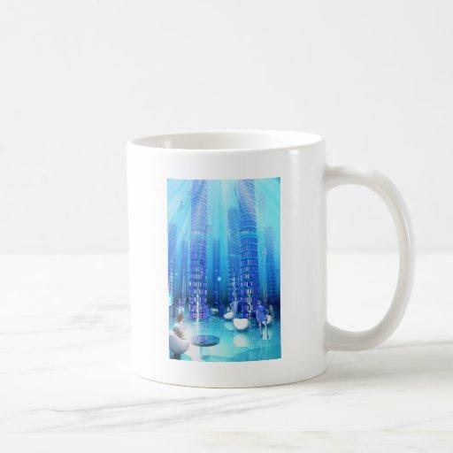 Biblioteca de la fantasía taza de café