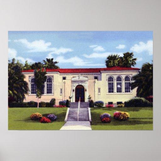 Biblioteca de Lakeland la Florida Póster