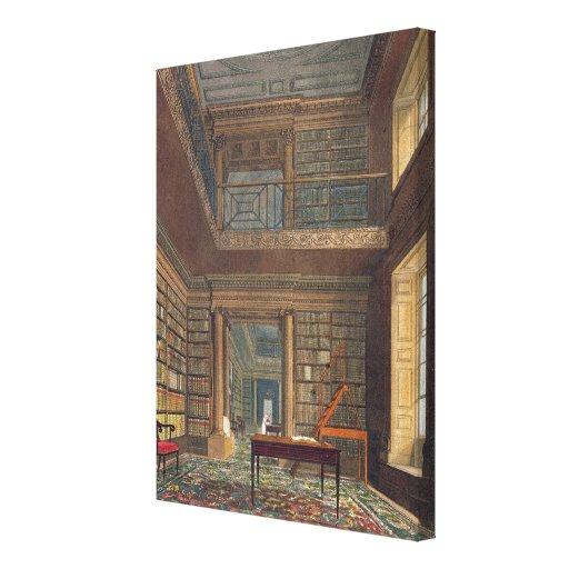 """Biblioteca de universidad de Eton, de la """"historia Impresion De Lienzo"""