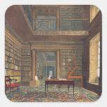 "Biblioteca de universidad de Eton, de la ""historia Pegatina Cuadrada"