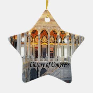 Biblioteca del Congreso Adorno Navideño De Cerámica En Forma De Estrella