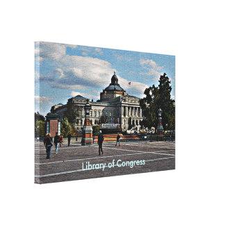 Biblioteca del Congreso en modelo de mosaico Lienzo Envuelto Para Galerías