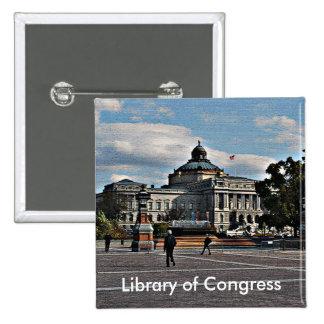 Biblioteca del Congreso en modelo de mosaico Pins