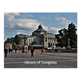 Biblioteca del Congreso en modelo de mosaico Tarjeta Postal