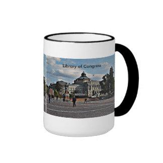 Biblioteca del Congreso en modelo de mosaico Tazas De Café