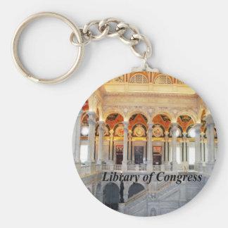 Biblioteca del Congreso Llavero Redondo Tipo Pin