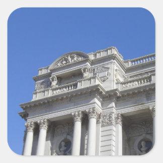Biblioteca del Congreso Pegatina Cuadrada