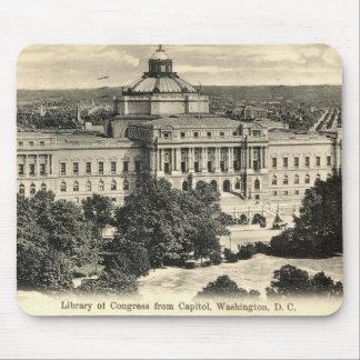 Biblioteca del Congreso, Washington DC, vintage 19 Tapete De Ratón