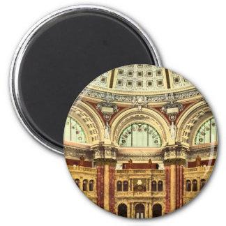 Biblioteca del Congreso Washington del sitio de le Imán Redondo 5 Cm