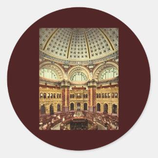 Biblioteca del Congreso Washington del sitio de Pegatina Redonda