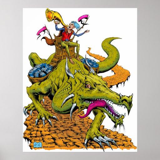 Biblioteca del dragón póster