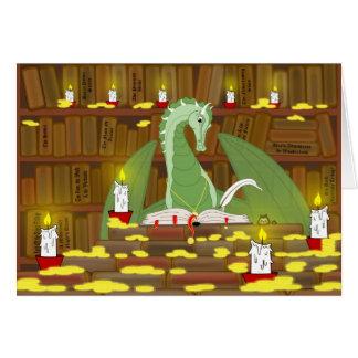 Biblioteca del dragón tarjeton