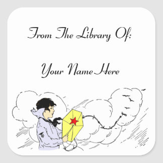 Biblioteca del pegatina de encargo del Bookplate