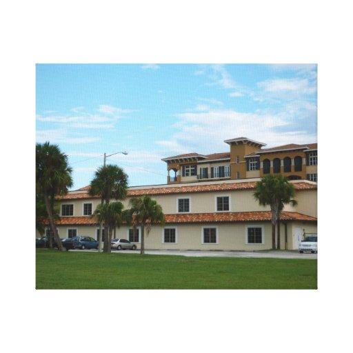 Biblioteca del pie Pierce la Florida Impresion En Lona