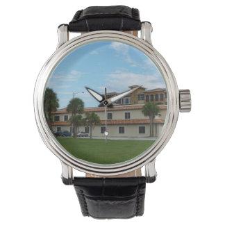 Biblioteca del pie Pierce la Florida Relojes De Pulsera