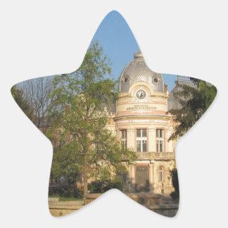 Biblioteca en Ruse, Bulgaria Pegatina En Forma De Estrella
