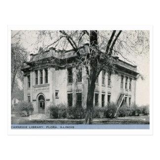 Biblioteca, flora, vintage de Illinois Tarjetas Postales