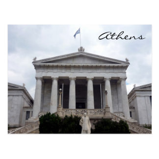 biblioteca griega Atenas Postales
