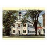 Biblioteca, Lenox, vintage 1932 de Massachusetts Tarjetas Postales