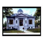 Biblioteca, Mendota, vintage de Illinois Postal
