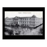 Biblioteca nacional, vintage de Madrid, España c19 Postal