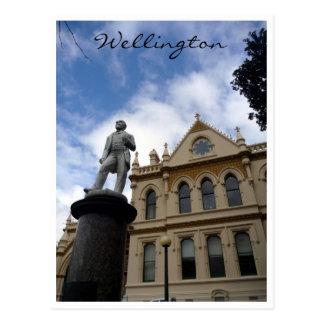 biblioteca parlamentaria Wellington Tarjeta Postal