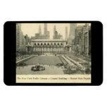 Biblioteca, parque de Bryant, vintage de New York  Imán Rectangular