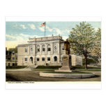 Biblioteca pública, Adams, Massachusetts 1917 Tarjetas Postales