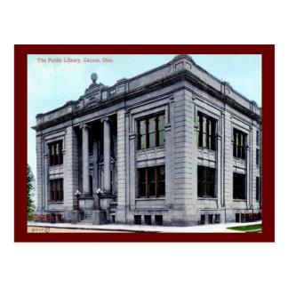 Biblioteca pública, cantón, vintage de Ohio Postal