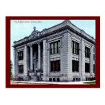 Biblioteca pública, cantón, vintage de Ohio Postales