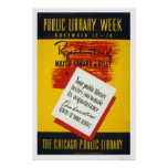 Biblioteca pública Chicago WPA 1940 Poster