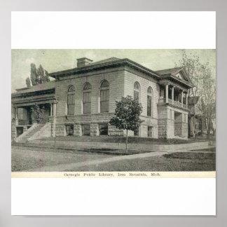 Biblioteca pública de Carnegie, montaña del hierro Impresiones