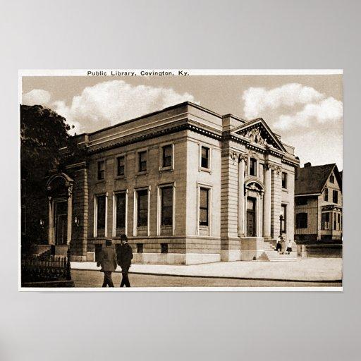 Biblioteca pública de Covington Kentucky Póster