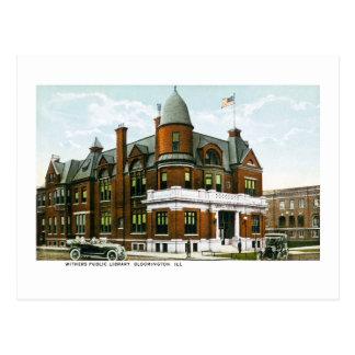 Biblioteca pública de Withers, Bloomington, Tarjeta Postal