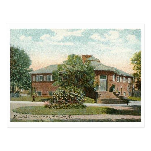Biblioteca pública, Montclair, NJ Tarjetas Postales