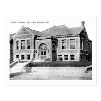 Biblioteca pública, San Luis Obispo, vintage de Tarjetas Postales