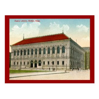 Biblioteca pública, vintage 1911 de Boston Postal