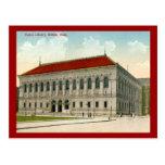 Biblioteca pública, vintage 1911 de Boston Postales