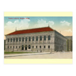 Biblioteca pública, vintage 1911 de Boston Tarjetas Postales