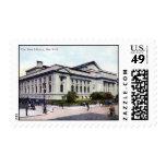 Biblioteca pública, vintage 1915 de New York City Sellos