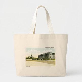Biblioteca pública y capitolio del estado Denver Bolsas Lienzo