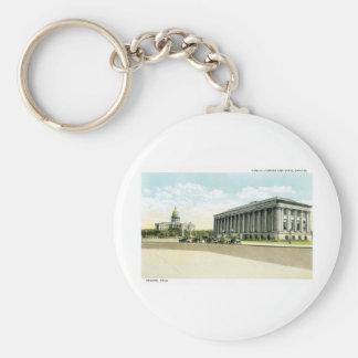 Biblioteca pública y capitolio del estado, Denver, Llavero Redondo Tipo Pin