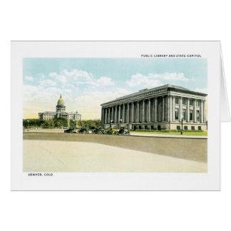 Biblioteca pública y capitolio del estado, Denver, Tarjeta De Felicitación
