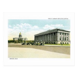 Biblioteca pública y capitolio del estado, Denver, Tarjeta Postal