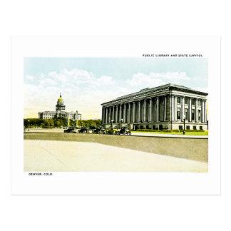 Biblioteca pública y capitolio del estado, Denver, Postal