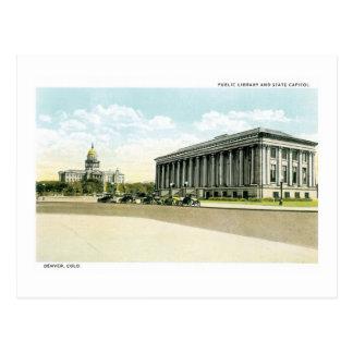Biblioteca pública y capitolio del estado, Denver, Tarjetas Postales