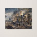 Biblioteca pública y templo de los vientos, placa  puzzles con fotos