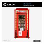 biblioteca roja británica de la caja del teléfono skins para eliPhone 4