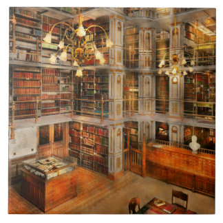 Biblioteca - una obra clásica literaria 1905 azulejo cuadrado grande